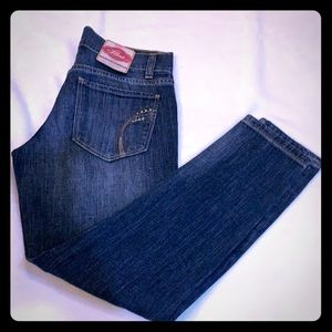 Size 0 old Navy The Flirt Cropped Leg Denim Jeans